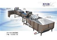 推荐产品:振野实用热卖三通道鸭蛋清洗机