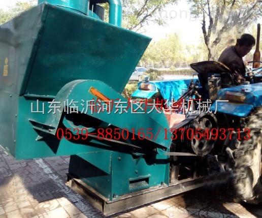 配拖拉机流动作业自动进料羊草粉碎机