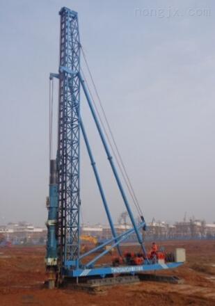 6吨柴油打桩机6T柴油锤打桩机配导杆式柴油打桩锤打预制桩管桩