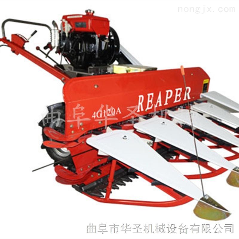 宽幅自走小麦收割机 水稻不打粒割晒机