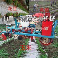 花生喷药地膜机厂家 农作物种植覆膜机 多功能单垄双行覆膜机