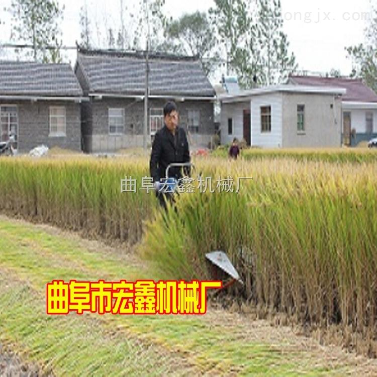 HX-GS-小型小麦割晒机 手推式多功能收割机 双层麦稻割晒机