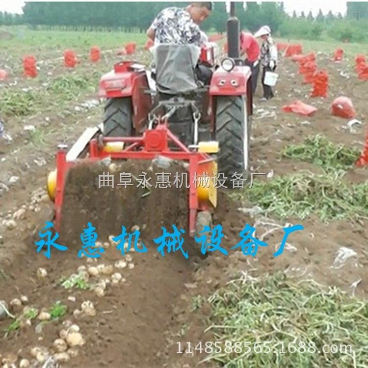 齿轮链条传动的地瓜收获机,悬挂式收获机价格,拖拉机带动的马铃薯收获机