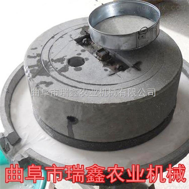 传统老石磨芝麻磨浆机 小型 电动石磨磨酱机 郑州石磨