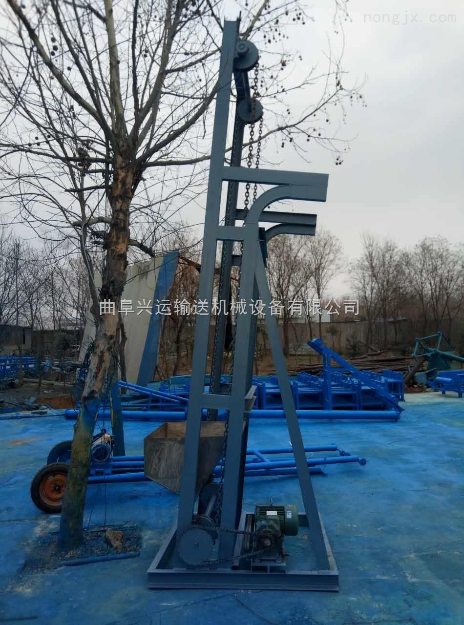焊接钢斗式煤块提升机,大瓦斗式垂直送料机