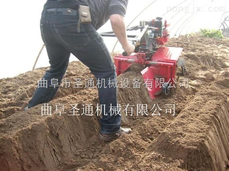 马铃薯旋耕扶垄机 手扶式小型多功能微耕机