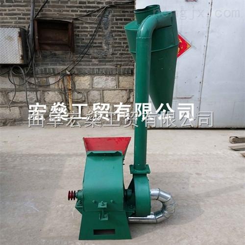 鲜草饲料粉碎机 优质小型玉米杆粉碎机