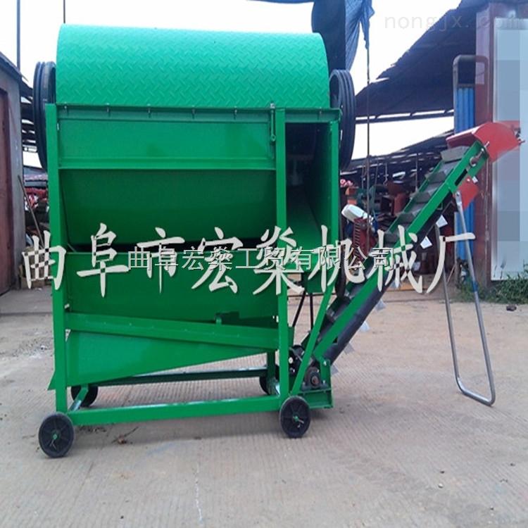移动式干湿两用花生摘果机 多功能花生收获机