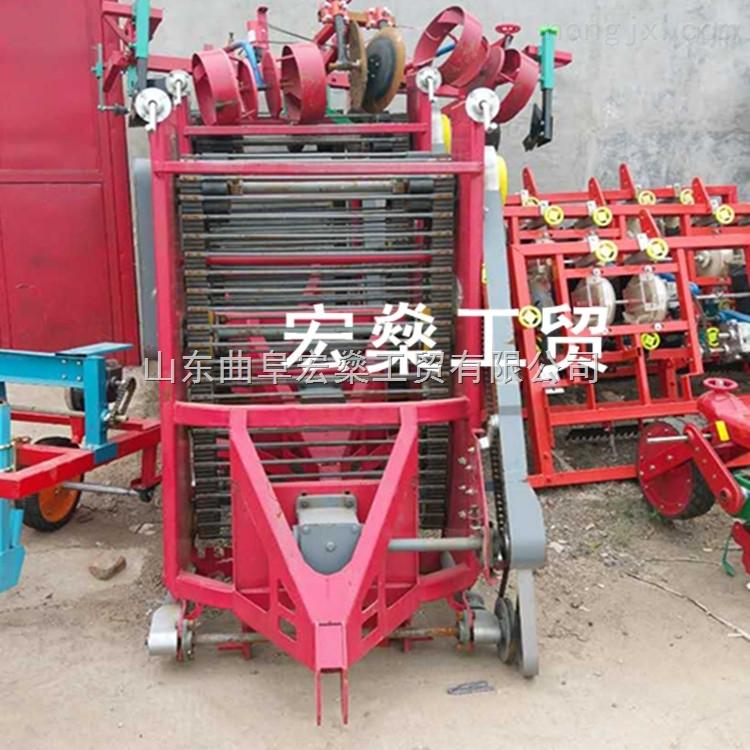 土豆收獲機 手扶拖拉機帶動紅薯打秧挖掘機