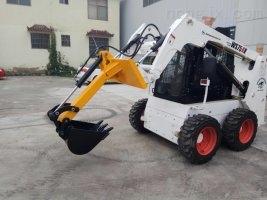 滑移装载机双臂挖掘机,滑移装载机单臂挖属具,单臂挖价格