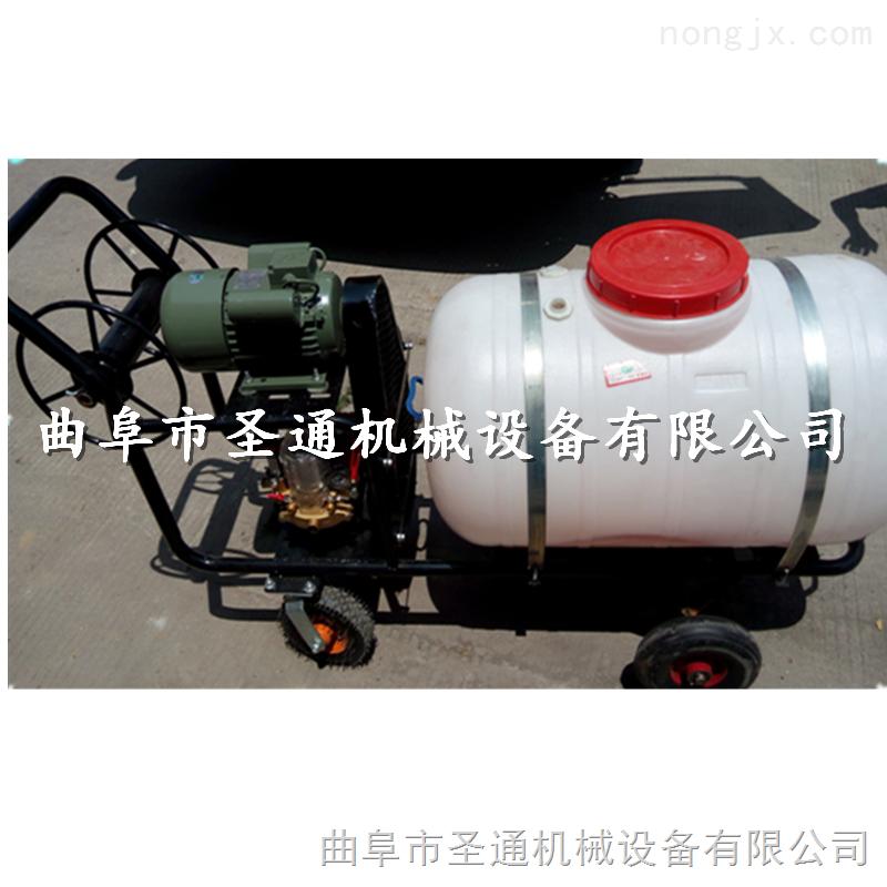 四轮手推式园林喷灌机,多功能拉管喷雾器