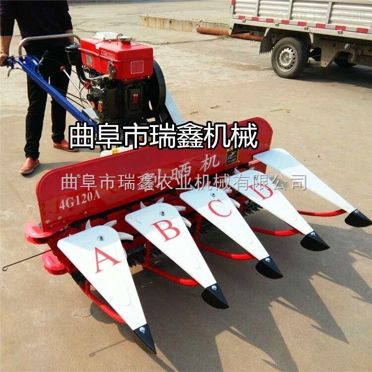 大豆收获机械设备 小型大豆收割机视频 大豆割晒机厂家优惠