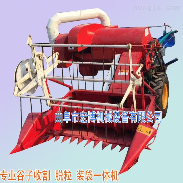 小麥谷子收割脫粒一體機