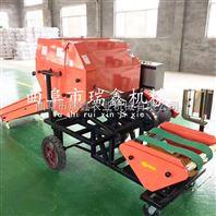 全自动青储秸秆机器 多功能玉米秸秆牧草青储机 第六代自动夹膜打包机