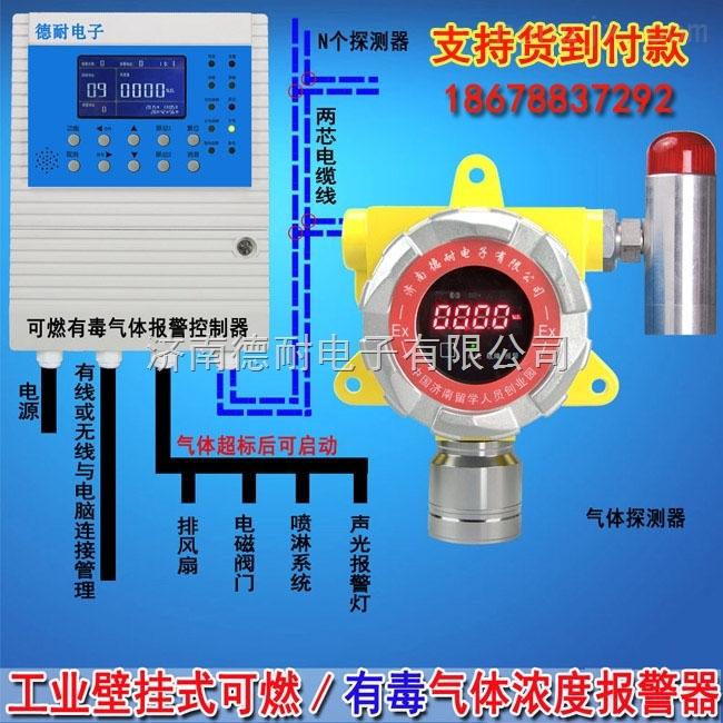 化工厂仓库硫化氢气体泄漏报警器,燃气浓度报警器安装