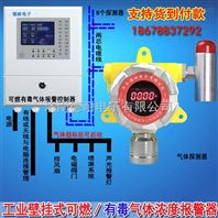 炼铁厂车间氢气气体检测报警器,气体浓度报警器与防爆电磁阀门怎么连接