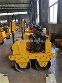 手扶钢轮压路机报价   新型双钢轮夯实机图片