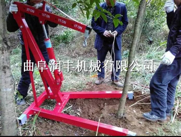砍树移植树苗起苗机 油锯式断根起苗机厂家