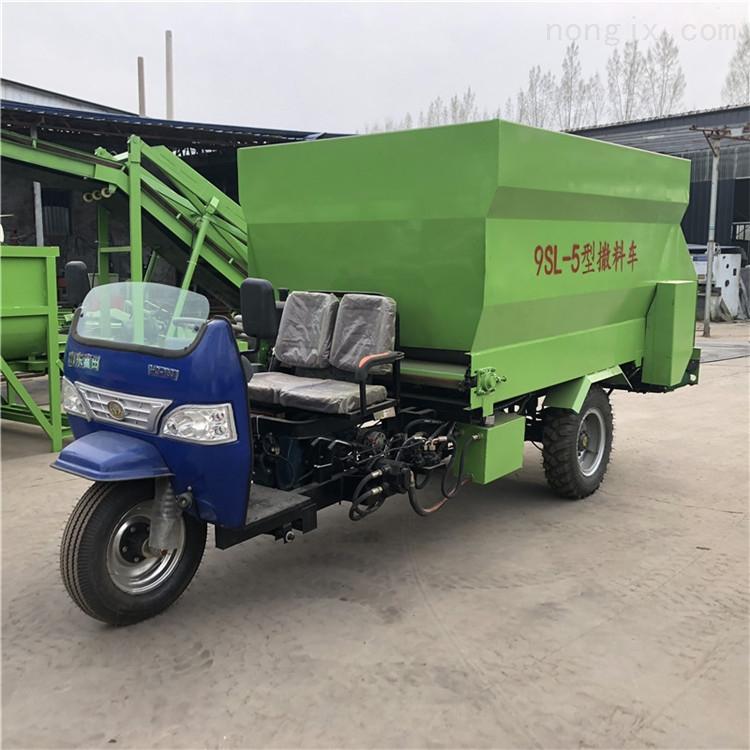 柴油动力撒料车 自动投料机