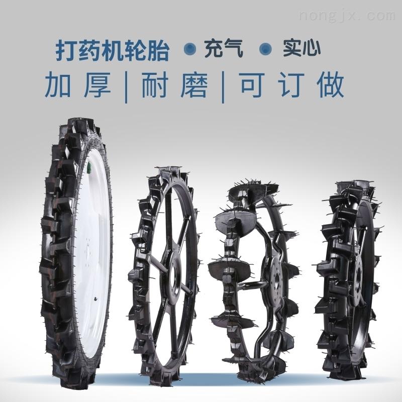 定做1.0米插秧机钢圈橡胶实心一体轮胎 8公分宽 7筋