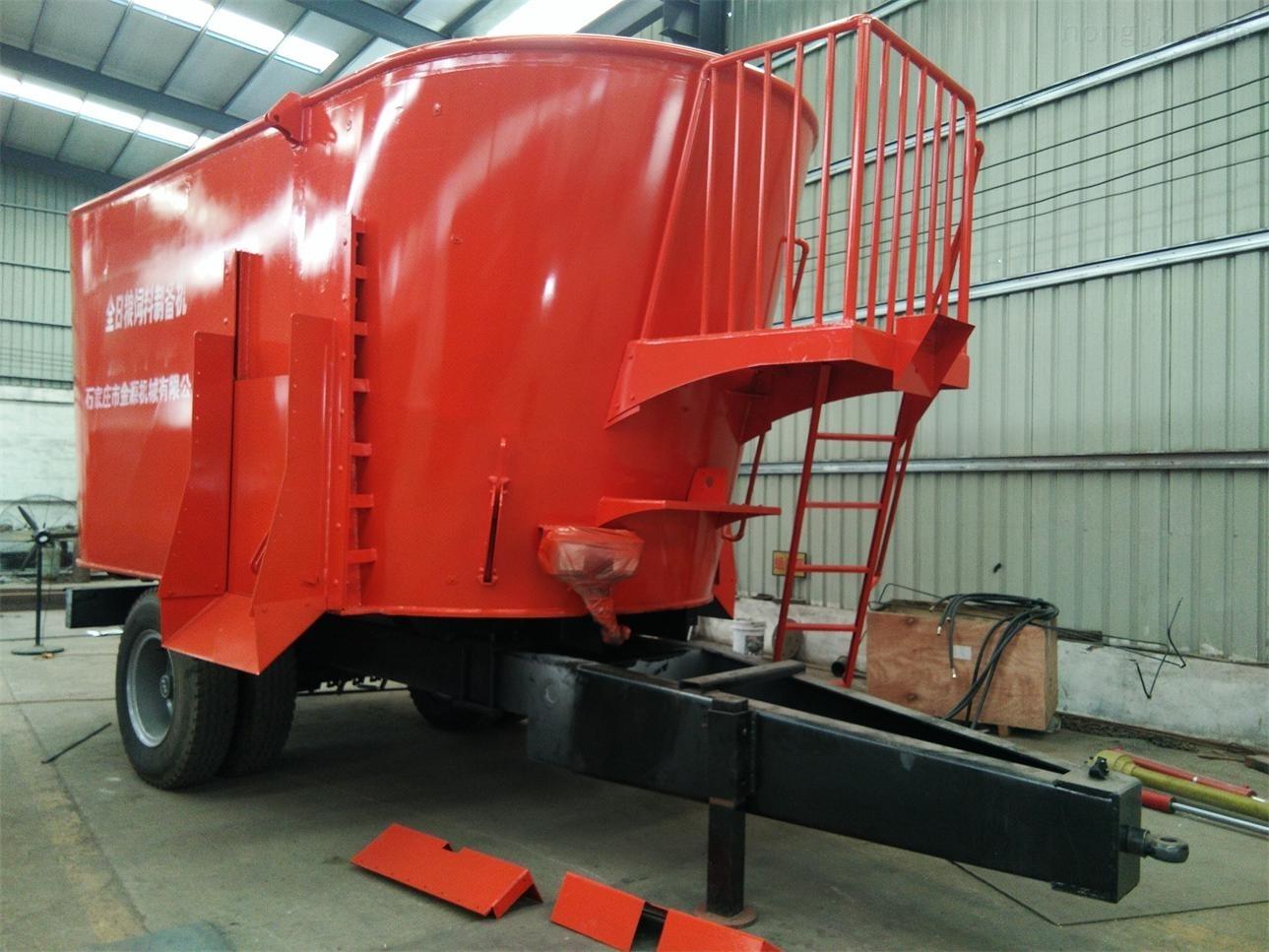 大型立式双搅龙饲料制备机搅拌机河北金源