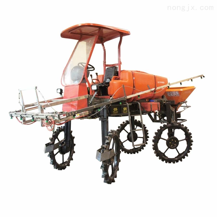 四驱四轮转向柴油喷杆喷雾机