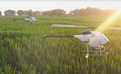 汉和水星一号助力二万亩玉米飞防作业