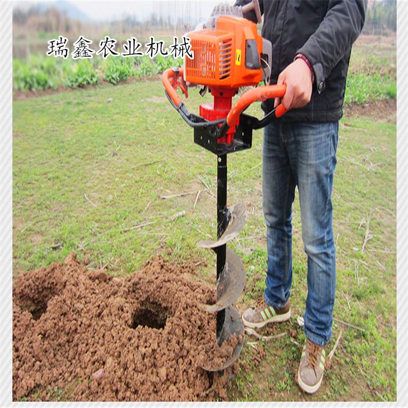 汽油手提式挖坑机 多用途打坑机 便携式植树挖坑机